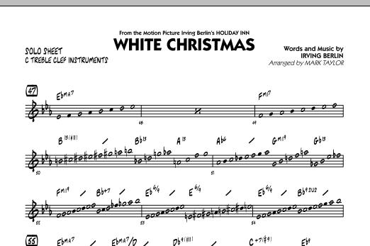 White Christmas - C Solo Sheet (Jazz Ensemble)