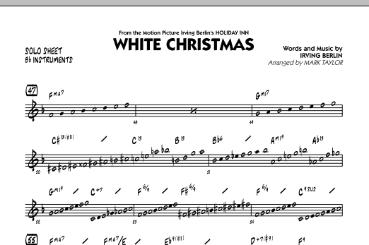 White Christmas - Bb Solo Sheet (Jazz Ensemble)