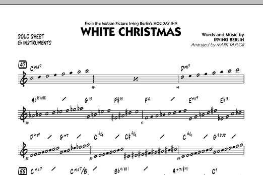 White Christmas - Eb Solo Sheet (Jazz Ensemble)