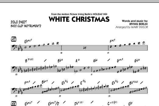 White Christmas - Bass Clef Solo Sheet (Jazz Ensemble)