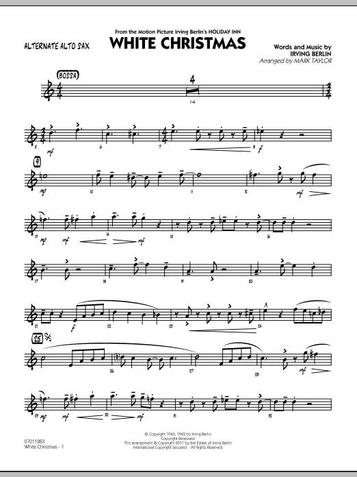 page one of White Christmas - Alternate Alto SaxASALTTEXT