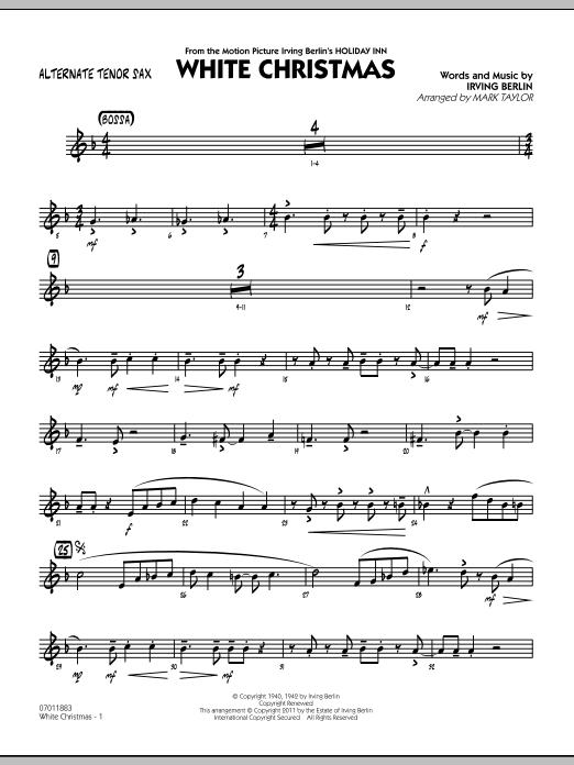 White Christmas - Alternate Tenor Sax (Jazz Ensemble)
