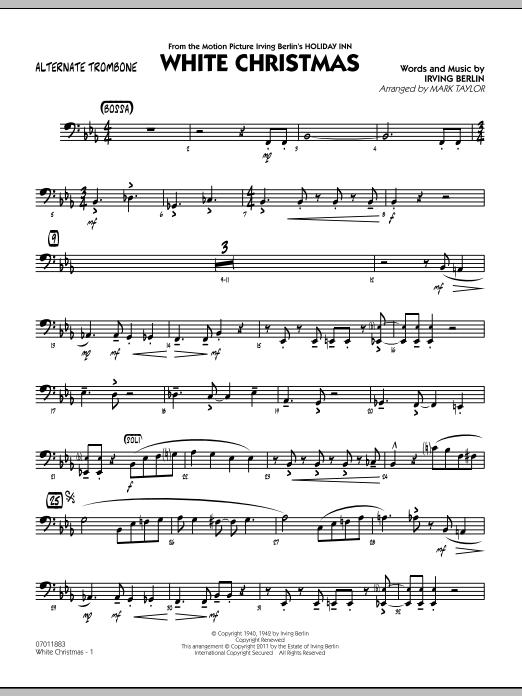 White Christmas - Alternate Trombone (Jazz Ensemble)