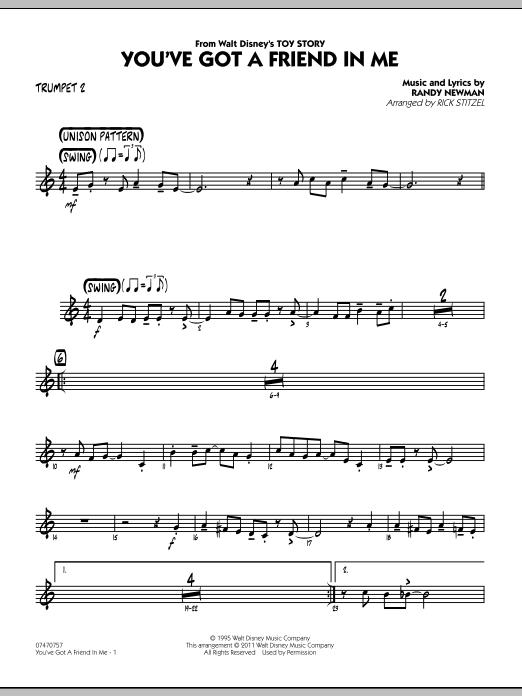 You've Got A Friend In Me (Wheezy's Version) (from Toy Story 2) (arr. Rick Stitzel) - Trumpet 2 (Jazz Ensemble)