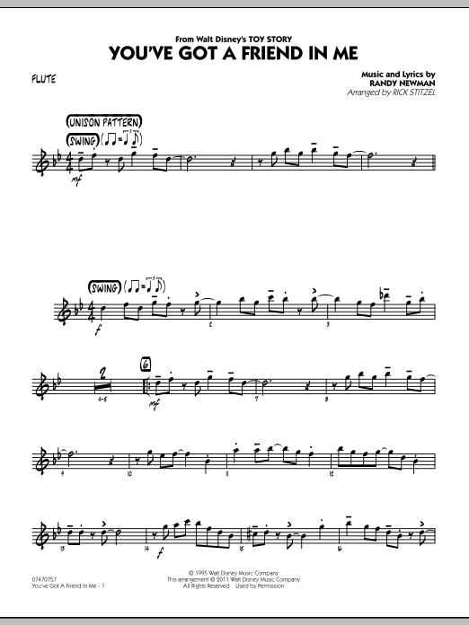 You've Got A Friend In Me (Wheezy's Version) (from Toy Story 2) (arr. Rick Stitzel) - Flute (Jazz Ensemble)