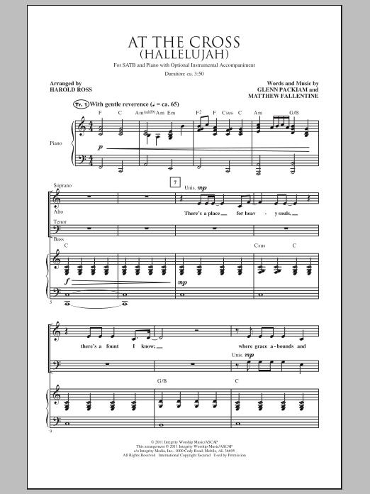 At The Cross (Hallelujah) Sheet Music