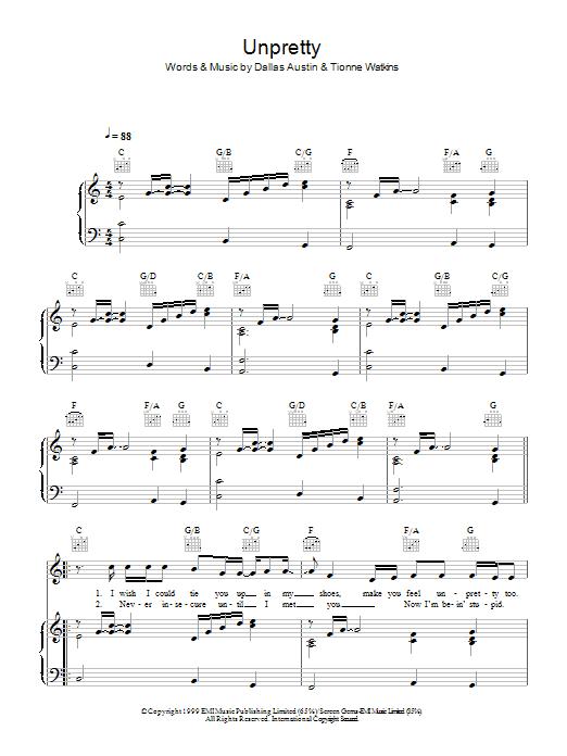 Unpretty Sheet Music