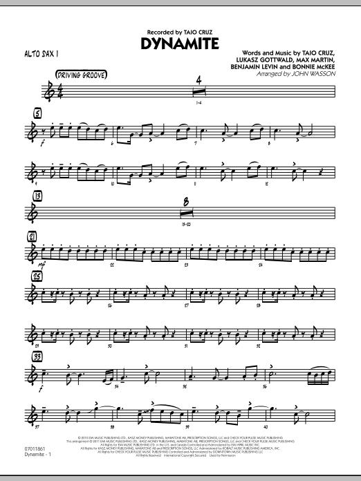 Dynamite - Alto Sax 1 (Jazz Ensemble)