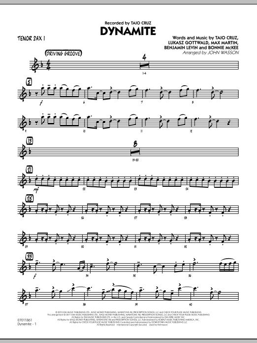 Dynamite - Tenor Sax 1 (Jazz Ensemble)