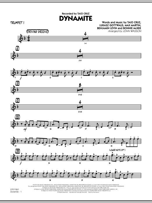 Dynamite - Trumpet 1 (Jazz Ensemble)