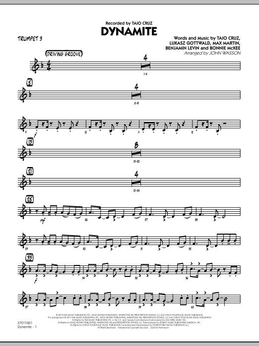 Dynamite - Trumpet 3 (Jazz Ensemble)