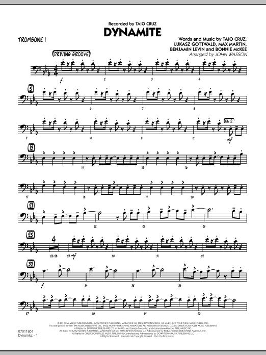 Dynamite - Trombone 1 (Jazz Ensemble)