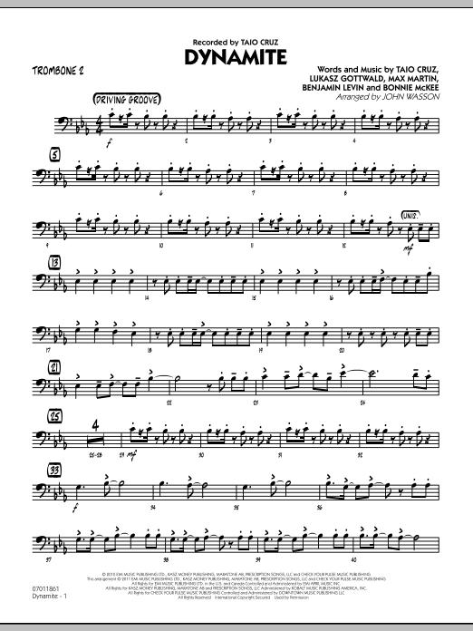 Dynamite - Trombone 2 (Jazz Ensemble)