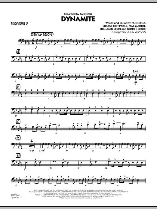 Dynamite - Trombone 3 (Jazz Ensemble)