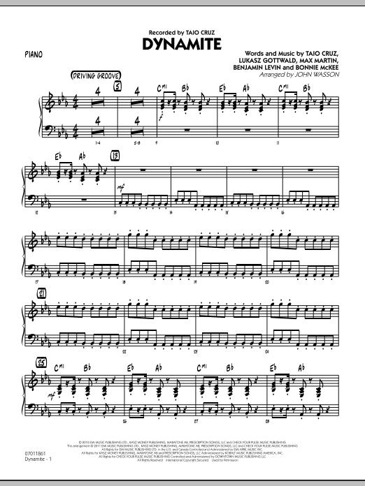 Dynamite - Piano (Jazz Ensemble)