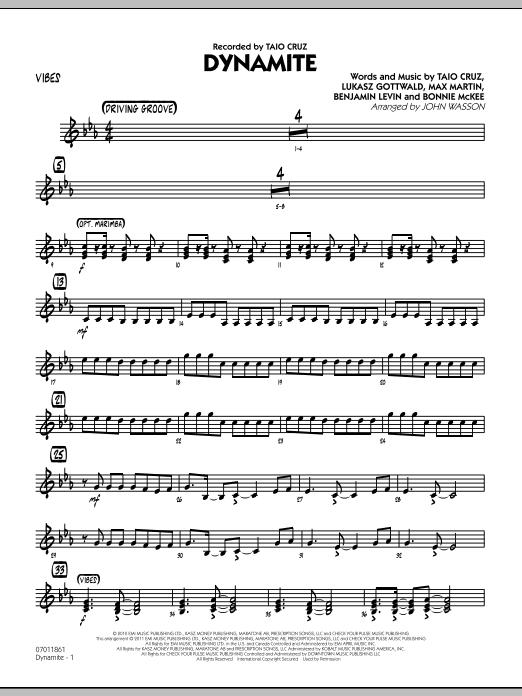 Dynamite - Vibes (Jazz Ensemble)