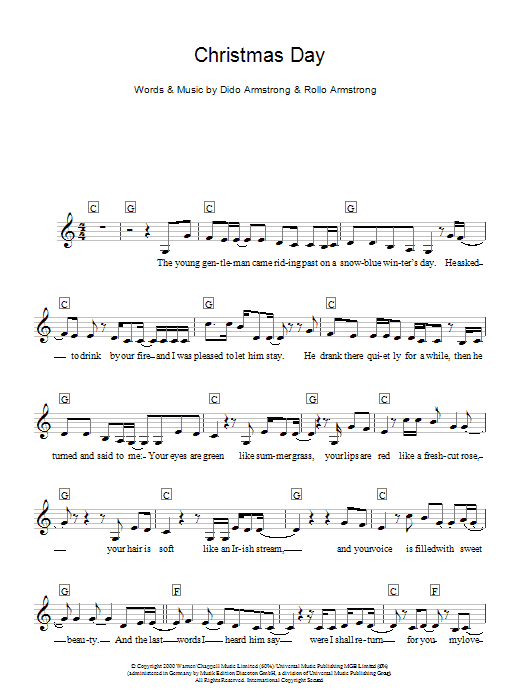 Christmas Day Sheet Music
