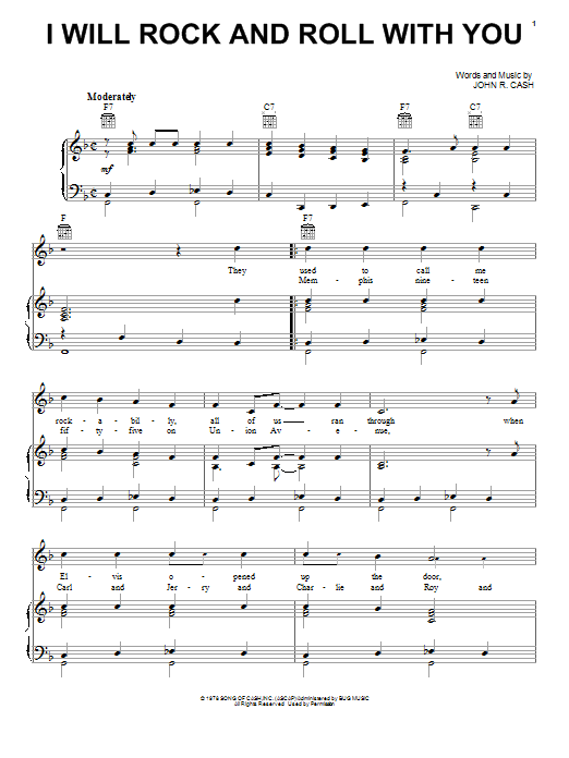 page one of I Will Rock And Roll With YouASALTTEXT