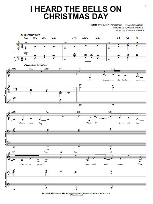I Heard The Bells On Christmas Day (Piano & Vocal)