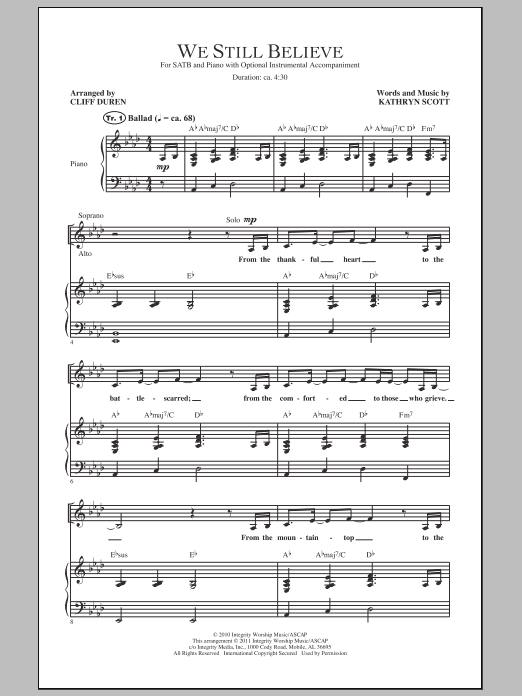 We Still Believe (SATB Choir)