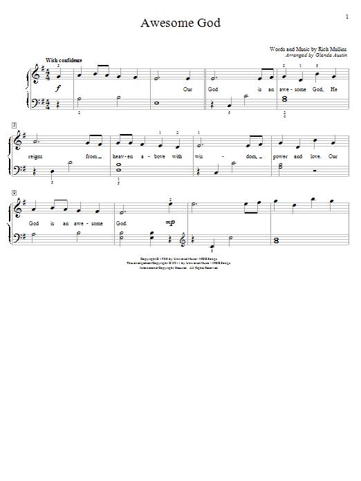 Awesome God Sheet Music