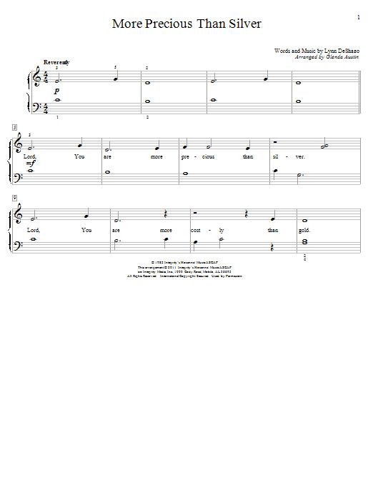 More Precious Than Silver (Educational Piano)