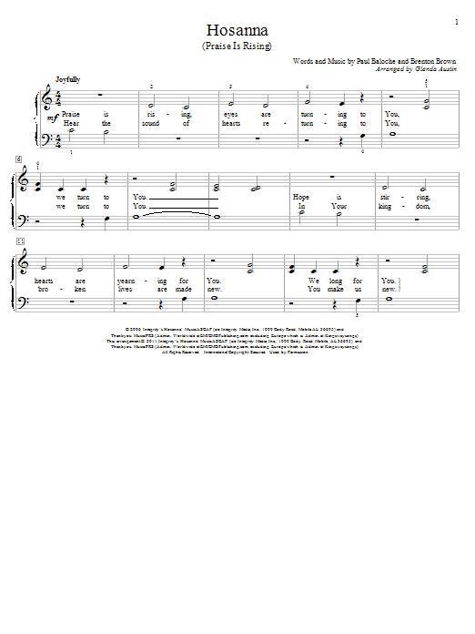 Hosanna (Praise Is Rising) (Educational Piano)