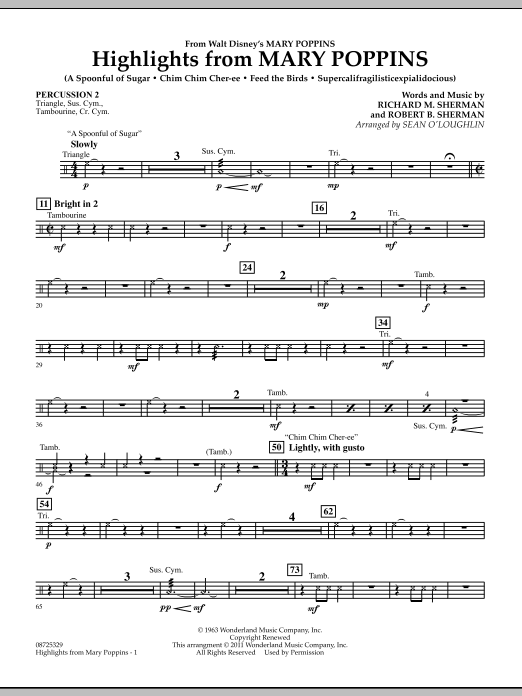 Highlights from Mary Poppins - Percussion 2 (Concert Band)