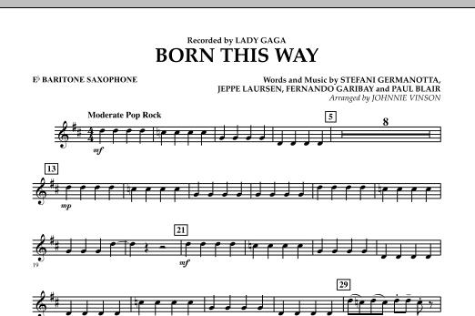 Born This Way - Eb Baritone Saxophone Sheet Music
