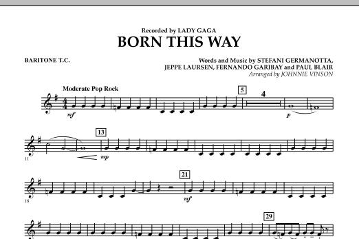 Born This Way - Baritone T.C. Sheet Music