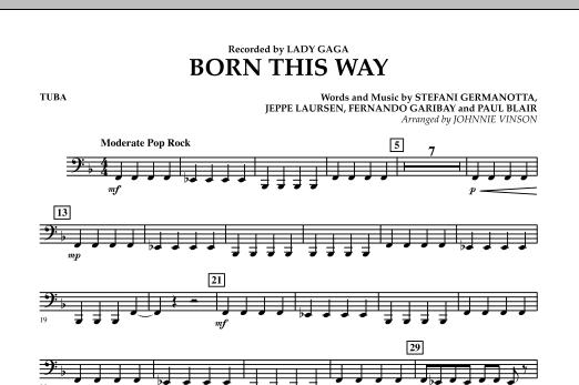 Born This Way - Tuba Sheet Music