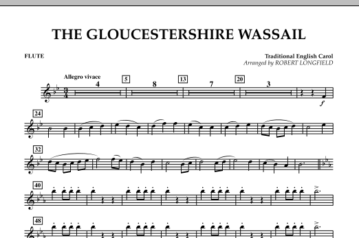 The Gloucestershire Wassail - Flute (Concert Band)