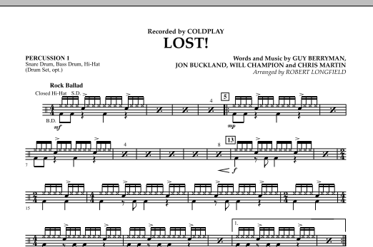 Lost! - Percussion 1 (Concert Band)
