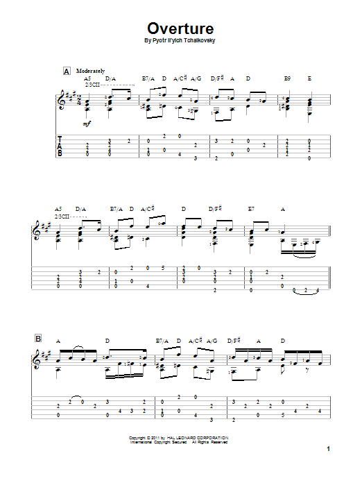 Overture (Guitar Tab)