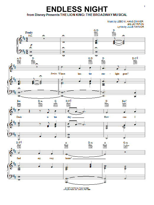 Endless Night Sheet Music
