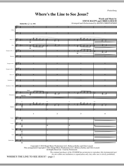 Where's The Line To See Jesus? - Full Score (Choir Instrumental Pak)