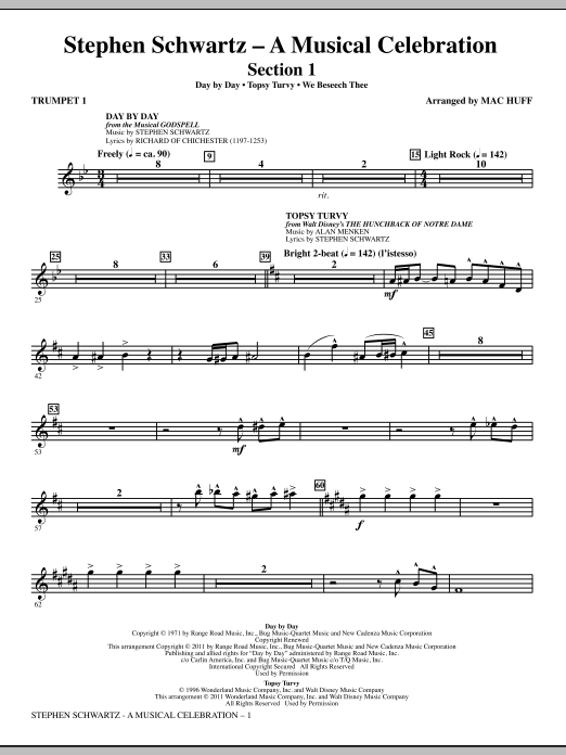 Stephen Schwartz: A Musical Celebration (Medley) - Trumpet 1 Sheet Music
