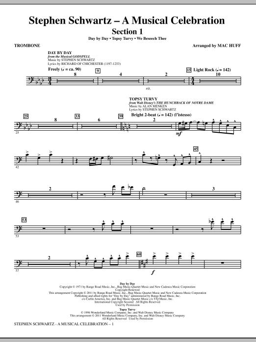 Stephen Schwartz: A Musical Celebration (Medley) - Trombone Sheet Music