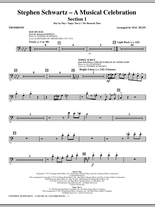 Stephen Schwartz: A Musical Celebration (Medley) - Trombone (Choir Instrumental Pak)