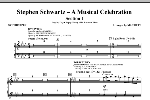 Stephen Schwartz: A Musical Celebration (Medley) - Synthesizer (Choir Instrumental Pak)