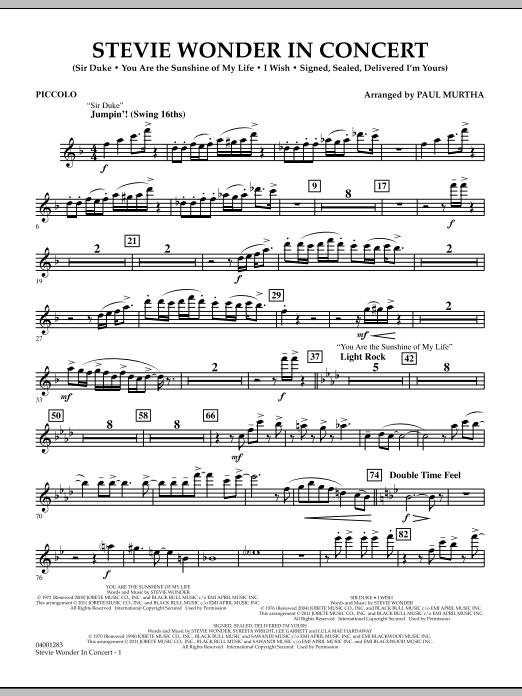 Stevie Wonder In Concert - Piccolo (Concert Band)