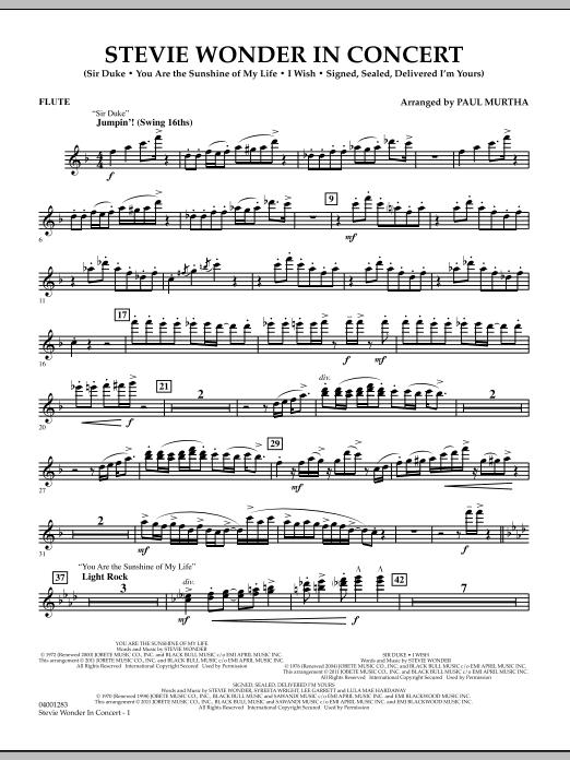 Stevie Wonder In Concert - Flute (Concert Band)