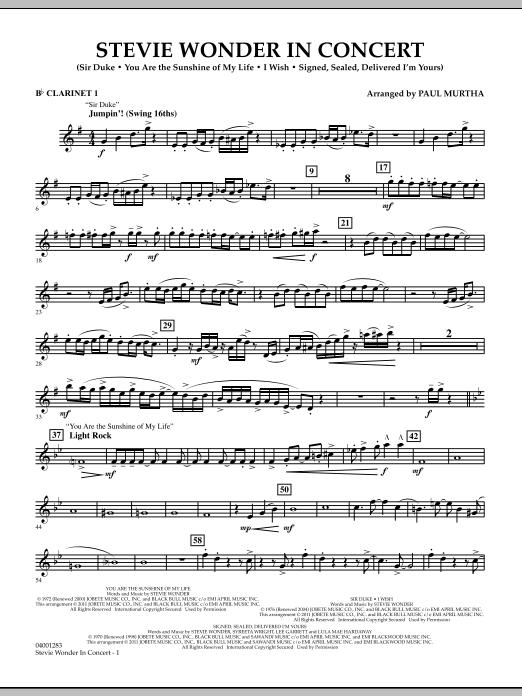 Stevie Wonder In Concert - Bb Clarinet 1 (Concert Band)