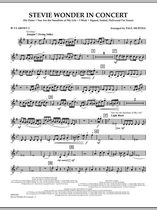 Stevie Wonder In Concert - Bb Clarinet 2 (Concert Band)