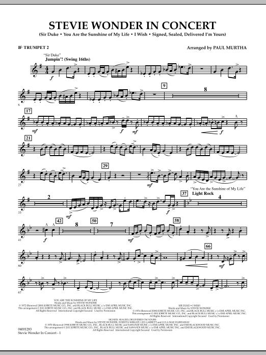 Stevie Wonder In Concert - Bb Trumpet 2 (Concert Band)
