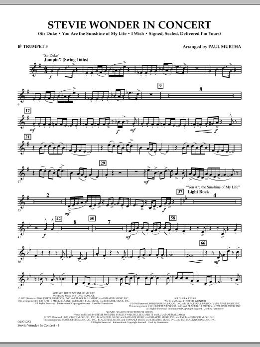 Stevie Wonder In Concert - Bb Trumpet 3 (Concert Band)