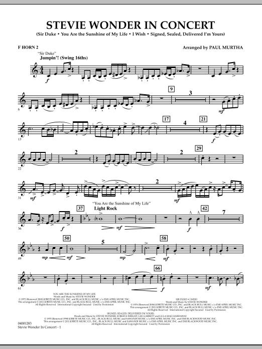 Stevie Wonder In Concert - F Horn 2 (Concert Band)