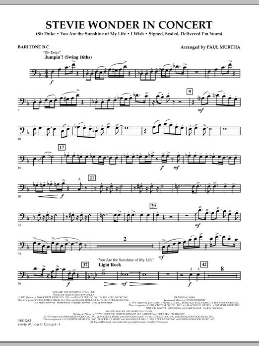 Stevie Wonder In Concert - Baritone B.C. (Concert Band)