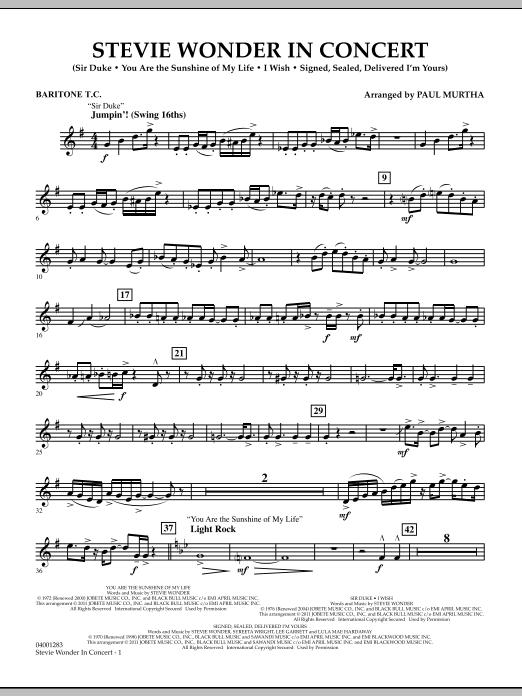 Stevie Wonder In Concert - Baritone T.C. (Concert Band)