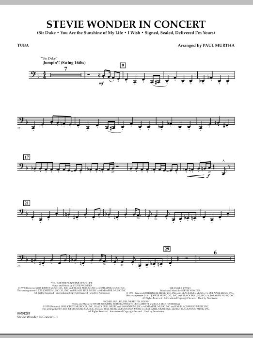 Stevie Wonder In Concert - Tuba (Concert Band)